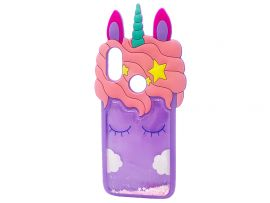 3D Sleep Unicorn Аква Redmi Note 7 Purple