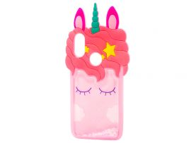 3D Sleep Unicorn Аква Redmi Note 7 Pink