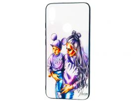 TPU+Glass Girls Redmi Note 7 Mom and Son