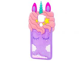 3D Sleep Unicorn Аква Redmi Note 9 Purple