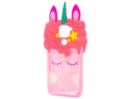 3D Sleep Unicorn Аква Redmi Note 9 Pink