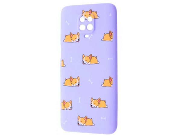 WAVE Fancy Redmi Note 9s/Pro sleeping corgi/light purple