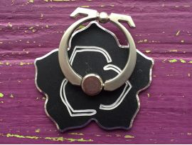 Ring Flower Black