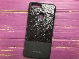 Case Leather+Shining Huawei Honor 7X Black