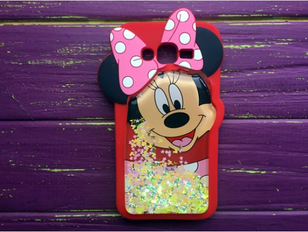 Чехол 3D Аквариум Minnie Samsung J7 Red
