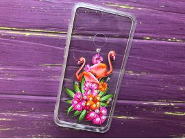 Plastic Diamond Honor 9 Lite two Flamingo